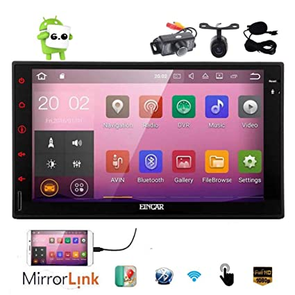 Free Cameras Android 6 0 Car Stereo GPS Double Din Navigation 7inch Full  Touch Screen Vehicle Audio Radio HeadUnit Support 1080P Video OBD2 No-DVD