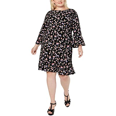 Betsey Johnson Women's Size Floral Bell Sleeve Dress (Plus) at Amazon Women's Clothing store
