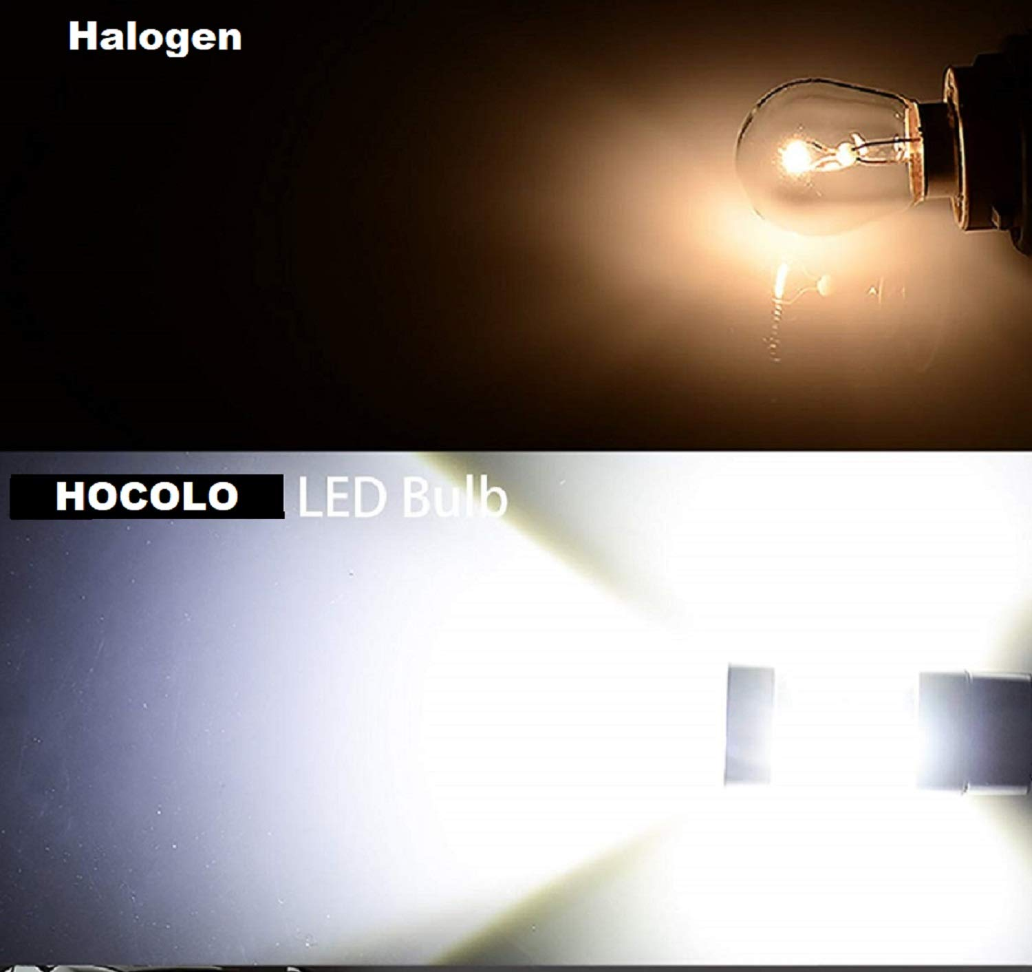 HOCOLO H8 H9 H11 LED Fog Driving Light LED Replacement 6000K Xenon White 2000 Lumens High Power Lamp Bulbs Replacement w//Projector Set of 2 H8//H11-100W, Light White