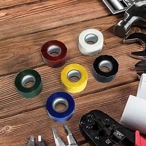 Waterproof Pipe Tape - Waterproof Tape For Pipes - KC-YS8018 Gardening Universal Tape Useful Waterproof Silicone Hose Pipe Wire Repair Tape - Red ( Waterproof Hose Tape ) by Unknown (Image #2)