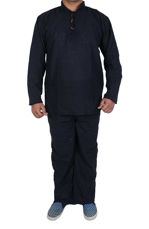 Ropa interior de la ropa de noche de la camisa de las bragas del pijama del algodón de la prima 100% khadi del de los hombres: Amazon.es: Ropa y accesorios