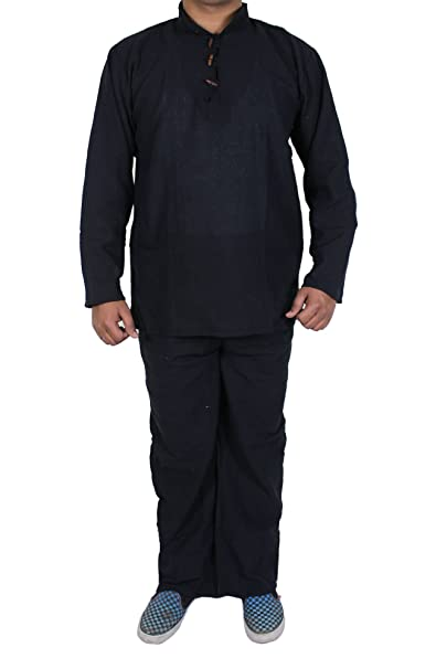 SKAVIJ Hombres pijama conjunto con camiseta y pantalón pijama conjunto de ropa de dormir -tamaño