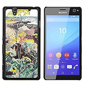 Eason Shop / Premium SLIM PC / Aliminium Casa Carcasa Funda Case Bandera Cover - Plantas Flores Pintura Arte - For Sony Xperia C4
