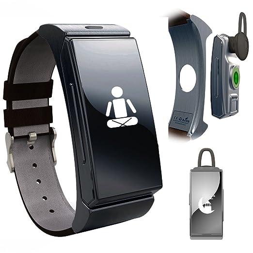 Sincronización inDigi pantalla OLED reloj inteligente Bluetooth pulsera vibran de nuevo identificador de llamadas manos libres