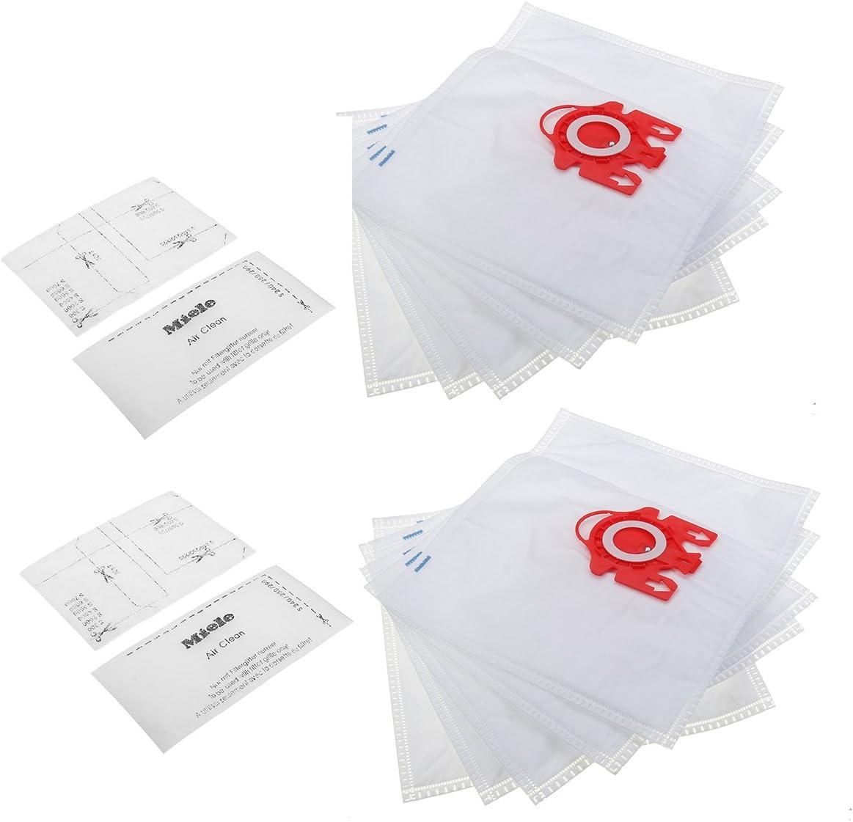 Bolsas para aspiradora Sorliva para aspiradora Miele FJM de doble capa aspiradora Hoover bolsas de polvo con 4 filtros (10 unidades): Amazon.es: Belleza