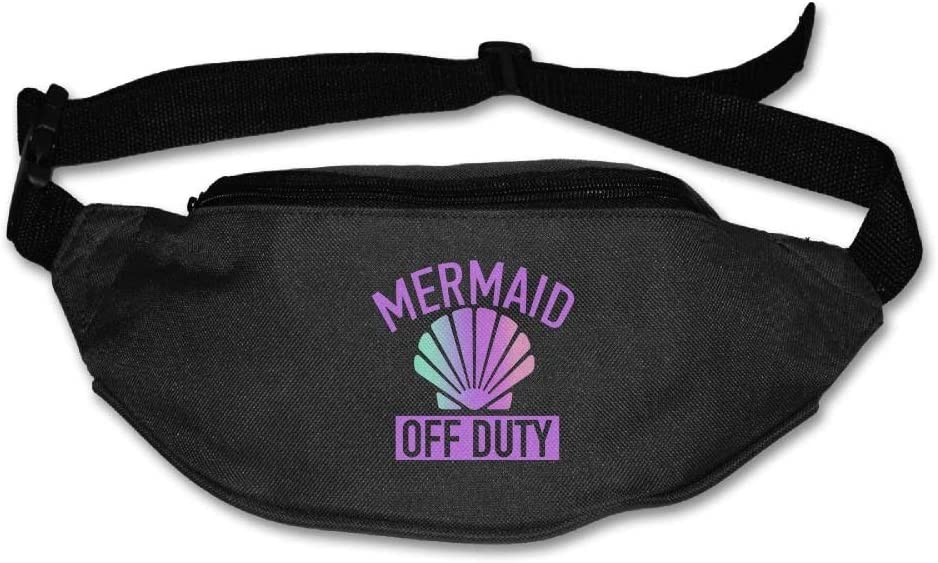 Unisex Pockets Mermaid Off Duty Fanny Pack Waist//Bum Bag Adjustable s Running Cycling Fishing Sport Waist Bags Black