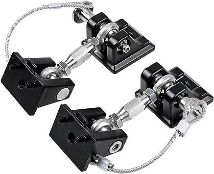 1 Pair MAIKER Black Aluminum Latch Locking Hood Catch Kit for 2007-2017 Jeep Wrangler JK