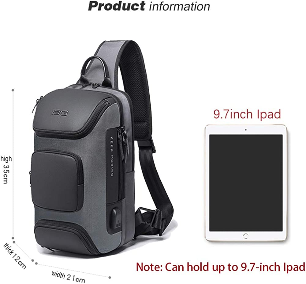 OZUKO Sling Backpack Sling Bag Crossbody Backpack Shoulder Casual Daypack Rucksack for Men