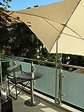 Holly ®-balcon-support de parasol-support universel pivotant à 360° avec edelsthalhülse pour piquets de parasol de ø 2–33 mm avec kratzfreien gUMMISCHUTZKAPPEN de fixation rond ou aux éléments de carré jusqu'à ø 35 mm-fabriqué en allemagne-innovation holly produits sTABIELO ® holly-- sunshade ®