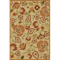 Safavieh Blossom Collection BLM862A Handmade Beige and Multi Premium Wool Area Rug (4 x 6)