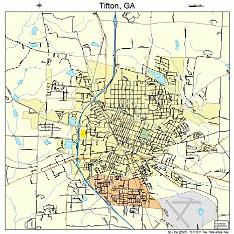Amazon Com Large Street Road Map Of Tifton Georgia Ga Printed