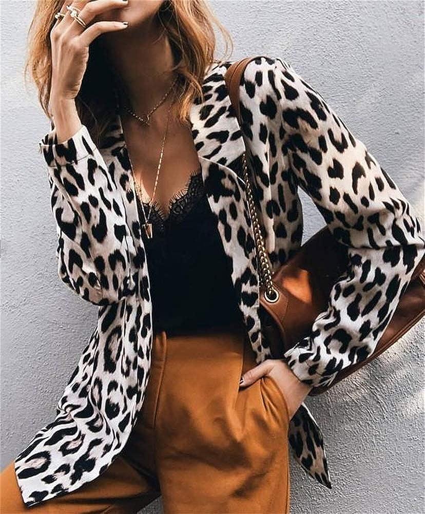 Womens Blazer Long Sleeve Open Front Blazer Office Lapel Cardigan OL Jacket