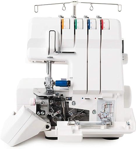 Juki MO4S Máquina de Coser Remalladora Overlock profesional 4 hilo con diferencial / Enhebrado automático + Kit 6 ...