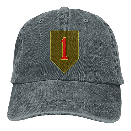BETARIAN Army 1st Infantry Division Embroidery Low Profile Plain Baseball Cap Dad Funny Cap