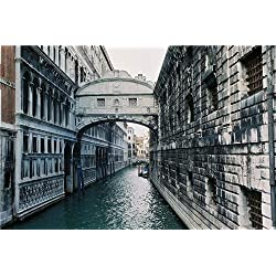 BRIDGE OF SIGHS GLOSSY POSTER PICTURE PHOTO venice italy limestone palazzo