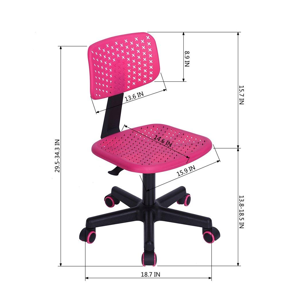 Silla de oficina Ihouse ordenador oficina giratorio de Task silla sin reposabrazos silla de Kid estudio Cruz Star malla Low-back ajustable silla turquesa, ...