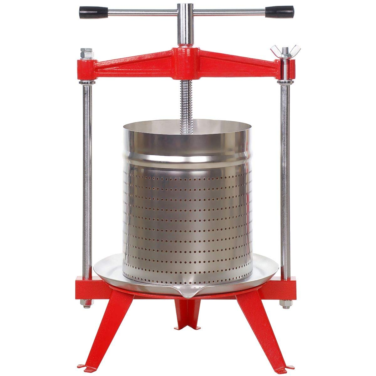 Harvest Bounty Fruit Press 4 Gallon + Stainless Basket by Harvest Bounty