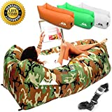 WeelaX Inflatable Lounger - Best Air Lounger for Travelling, Camping, Hiking - Ideal Inflatable Couch for Pool and Beach Parties - Perfect Air Chair for Picnics or Festivals