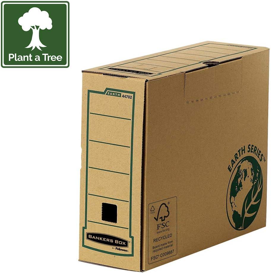 Fellowes 4470201 R-Kive Earth - Archivador con cierre de lengüeta (cartón reciclado con certificación FSC, tamaño A4), paco de 20 unidades