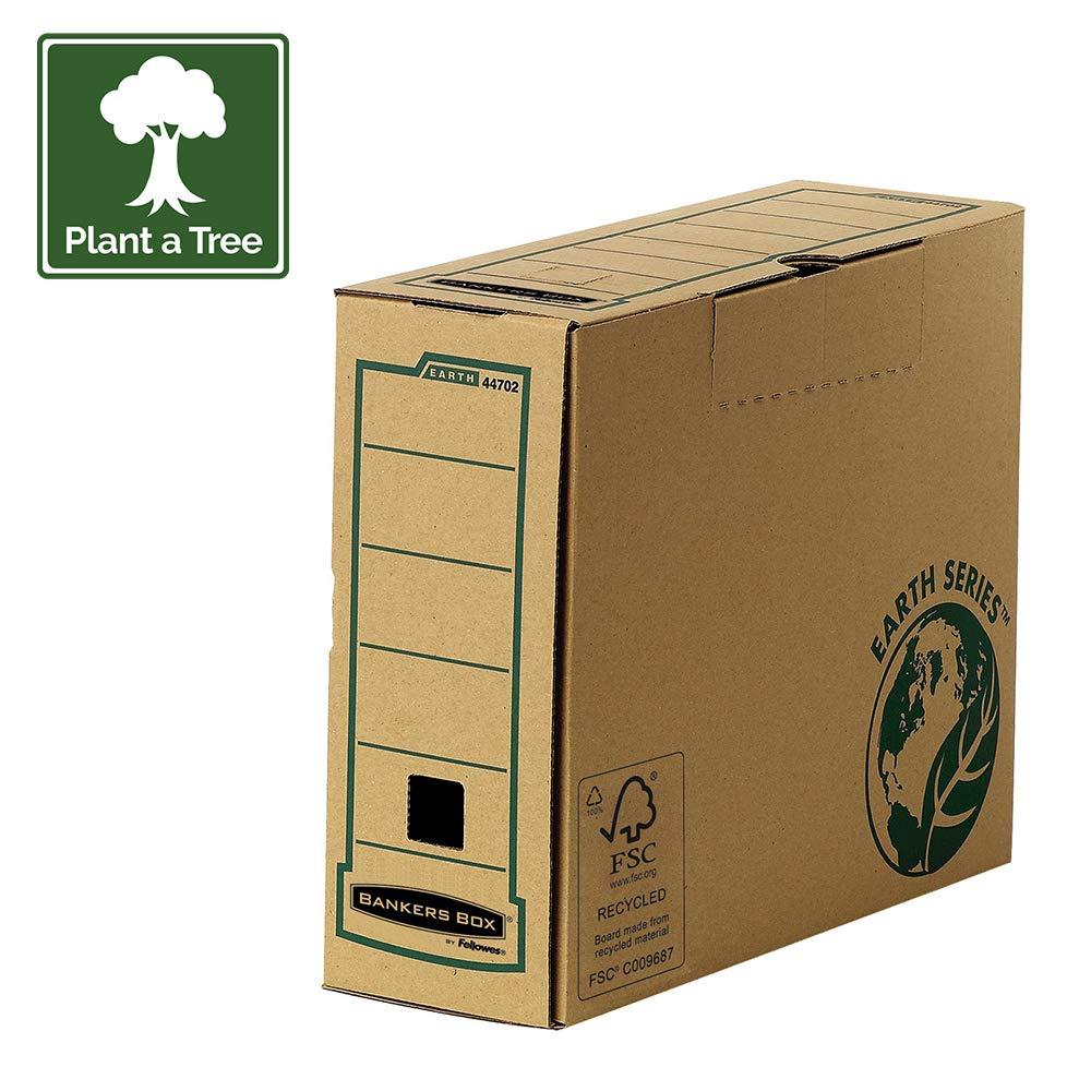Fellowes 4472301 Boîte d'archives Banker Box Earth Series A4 montage manuel - Dos de 20cm Marron (lot de 20)