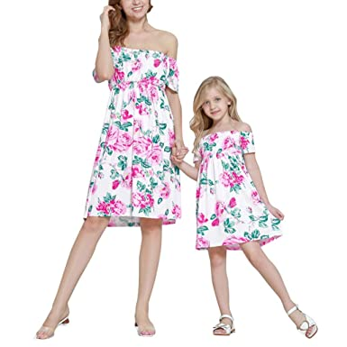 Vestiti Eleganti Mamma E Figlia.Day8 Abiti Mamma E Figlia Abbigliamento Elegante Vestiti Mamma E Figlia Uguali Estivi Abiti Famiglia Coordinati Vestito Mamma Moda Bambina Ragazza