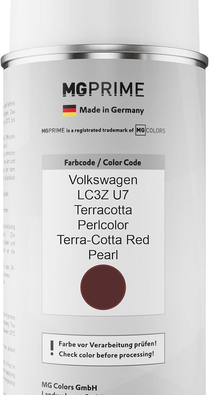 Mg Prime Autolack Sprühdosen Set Für Volkswagen Vw Lc3z U7 Terracotta Perlcolor Terra Cotta Red Pearl Basislack Klarlack Spraydose 400ml Auto