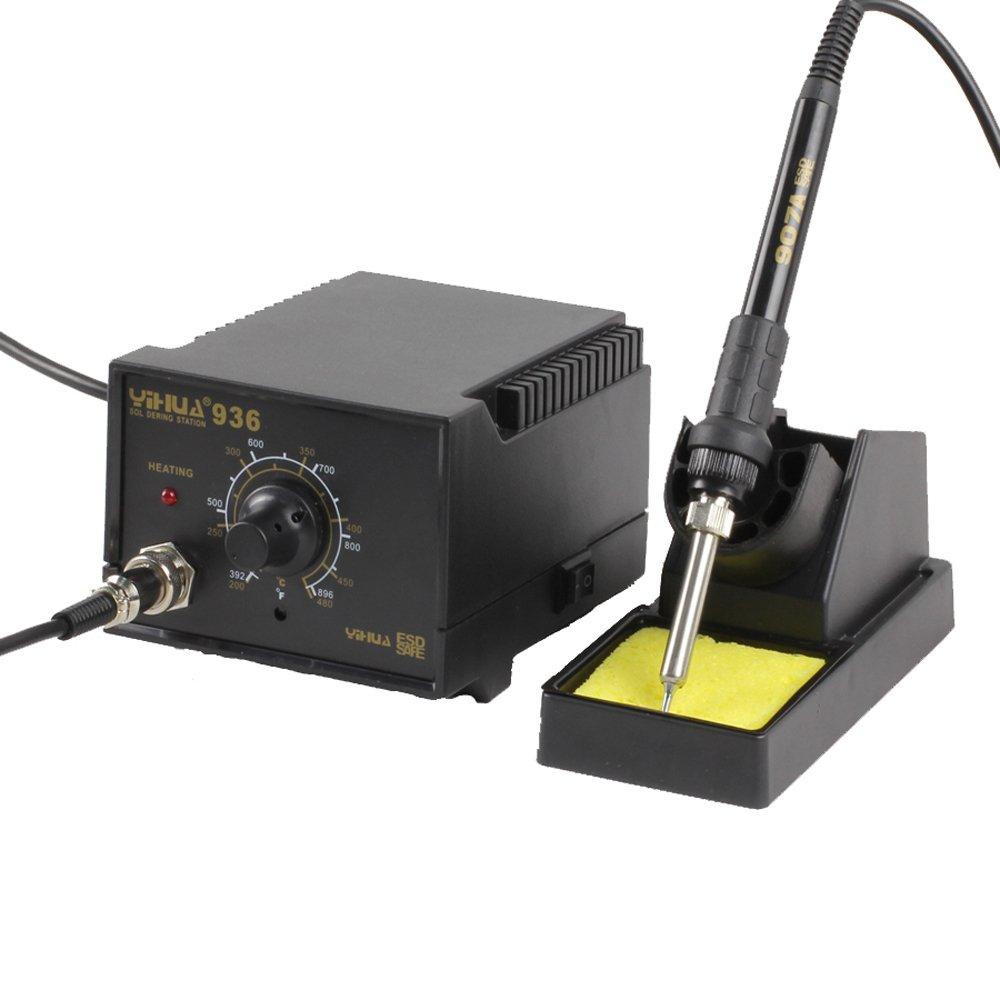 Estación soldadura 936 microstilo Soldador estaño ajustable esd Safe 907 A Micro 936 W: Amazon.es: Industria, empresas y ciencia