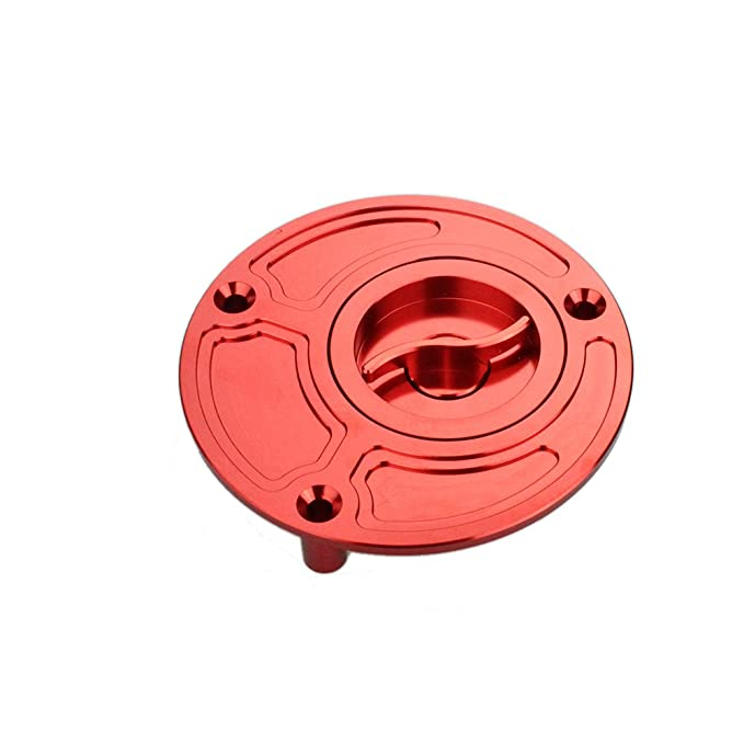Rzmmotor Motorcycle CNC Aluminum Gas Fuel Tank Oil Cap Cover Fit For Yamaha R6 R6S R1 FAZER FZ1 FZ6 FZ6R FJR1300 All Years Red: Amazon.es: Coche y moto