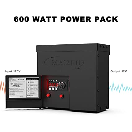 Malibu 600 Watt Power Pack with Sensor Photo Cell and Weather Shield on