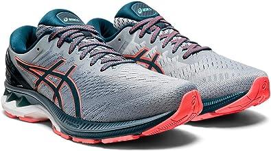 Asics Zapatillas de running Gel-Kayano 27 para hombre, Gris (Chapa Roca/Azul Magnético), 45.5 EU: Amazon.es: Zapatos y complementos