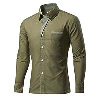 Rmine Herren Langarm Hemd Bügelleicht für Freizeit Business M-4XL