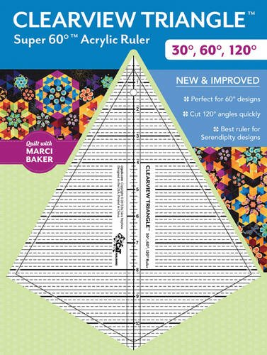 Clearview TriangleTM Super 60TM Acrylic Ruler: 30°, 60°, 120°