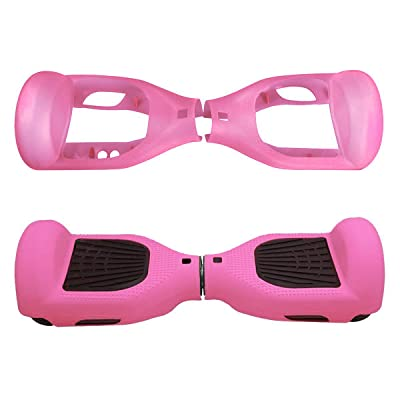 "Kglobal Silicone Cove for 6.5"" 2 Wheels Balance Scooter - Balance Hover Board Protector Case Cover (Pink) : Sports & Outdoors"