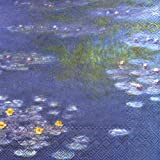 IHR Fine Art Old Master paper luxury napkins 20 - Monet Waterlillies by IHR