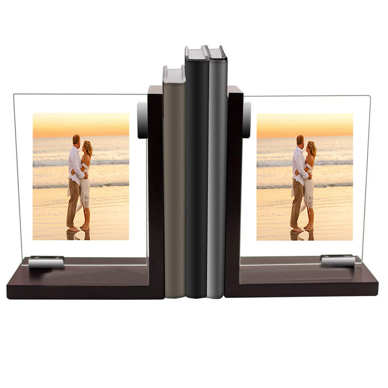 Pair of Beautiful Deocrative Bookends With Felt Pads to Protect Bookshelf Bookcase