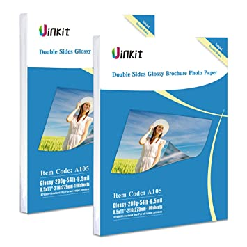 Amazoncom Double Sided Glossy Photo Paper 200 Sheets Uinkit 85