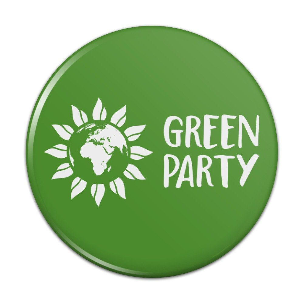 Amazon Green Party Flower Globe Pinback Button Pin Badge Clothing