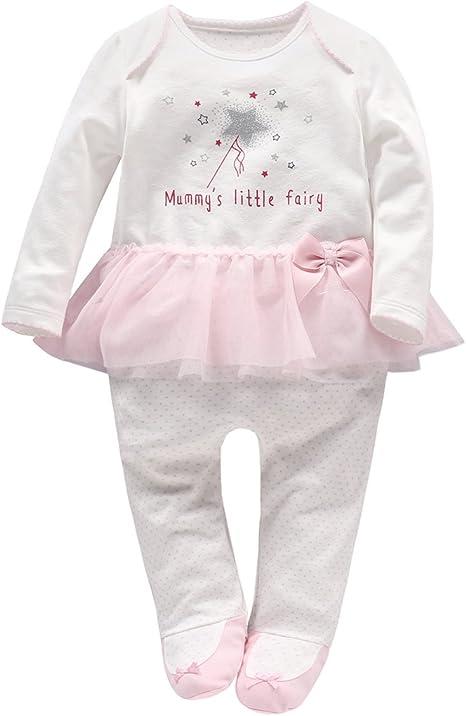 Vine Bebé Tutú Peleles Niñas Pijama Algodón Mameluco Recién Nacido Tuta Traje Princesa, 18-24 Meses