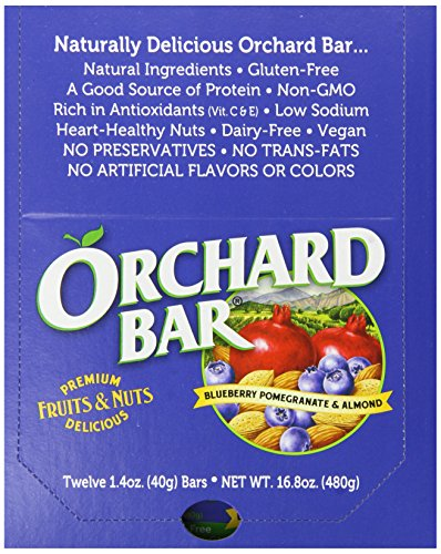 Orchard Bars Fruit and Nut Bar, Blueberry Pomegranate Almond, 1.4 Ounce (Pack of 12) by Orchard Bars (Image #3)