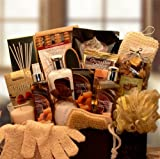 Deluxe Caramel Spa -Women's Birthday, Holiday, or Mother's Day Bath & Body Gift Basket