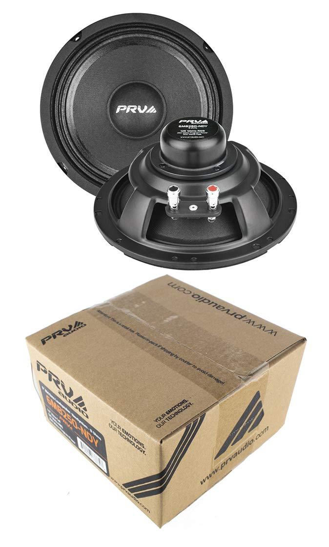 (2) PRV Audio 6MB250-NDY 6'' Neodymium Mid Bass Range Loud Speaker 8-ohm 500W Pair