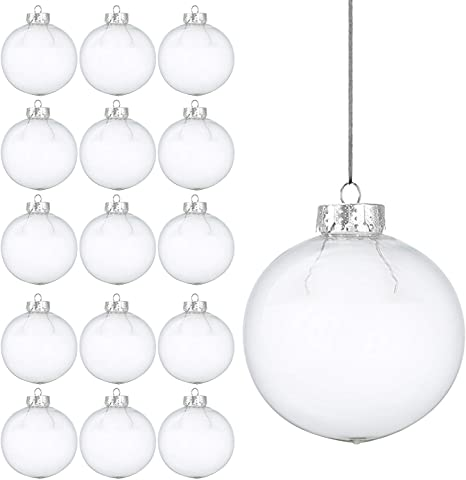 Biglie Di Plastica Vendita.15 Pezzi Palline Di Natale Trasparenti In Plastica Decorazione