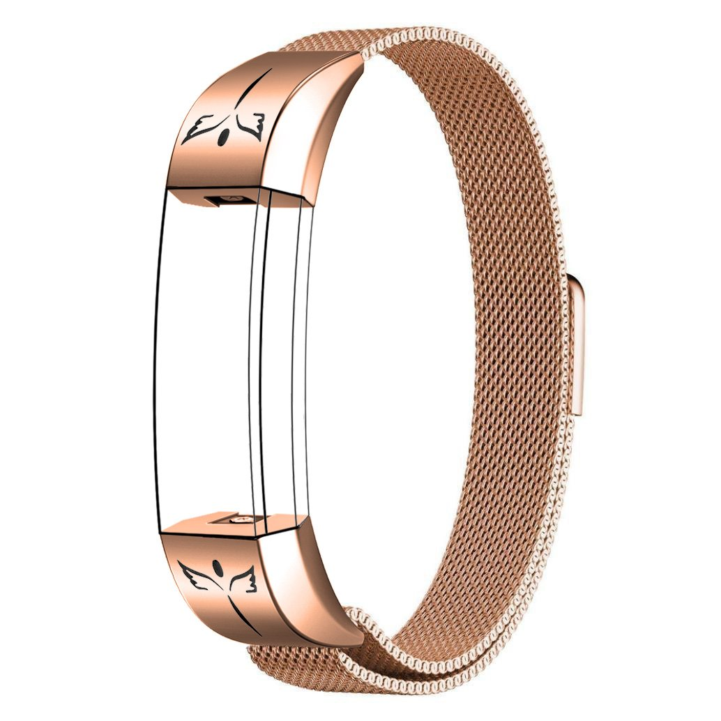 SWEES for Fitbit Alta HR and Alta Bands for Women Small, Milanese Stainless Steel Metal Replacement Band with Matte Connector for Fitbit Alta HR and Alta, Rose Gold, Black, Silver, Colorful