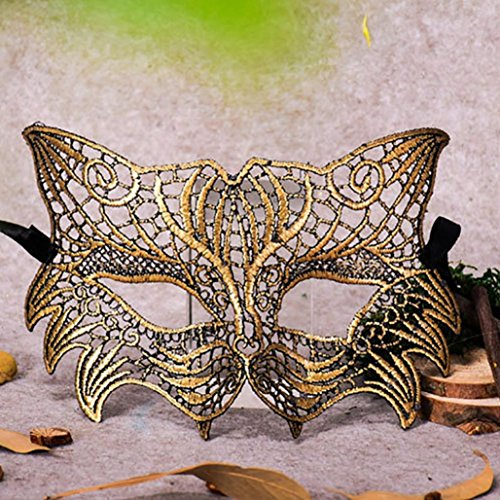 Masquerade Lace Mask Catwoman Halloween Cutout Prom Party