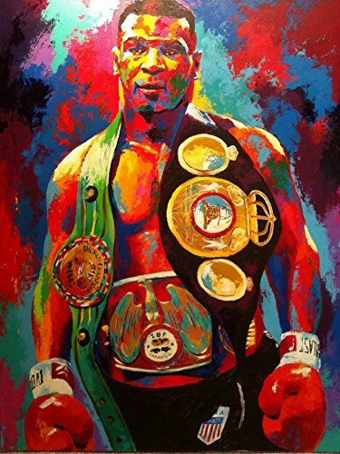 Mike Tyson Boxer Boxing Sports Silk Fabric Cloth Wall Poster Vintage 24x32 Inch (Cloth Silk Poster)