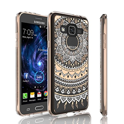 Girls Galaxy Sky Case, J3 /J3 V Case, Galaxy Sol Case , Tinysaturn [YCoral Series] [Rose Gold] Cute Transparent Thin Clear Hard TPU Skin Anti-Scratch Bumper Case For Galaxy Amp Prime / Express Prime Review