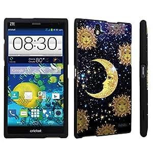 DuroCase ? ZTE Grand X Max Z787 Hard Case Black - (Moon Stars Sun)