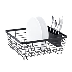Stylish Sturdy Oil Rubbed Bronze Metal Wire Small Dish Drainer Drying Rack