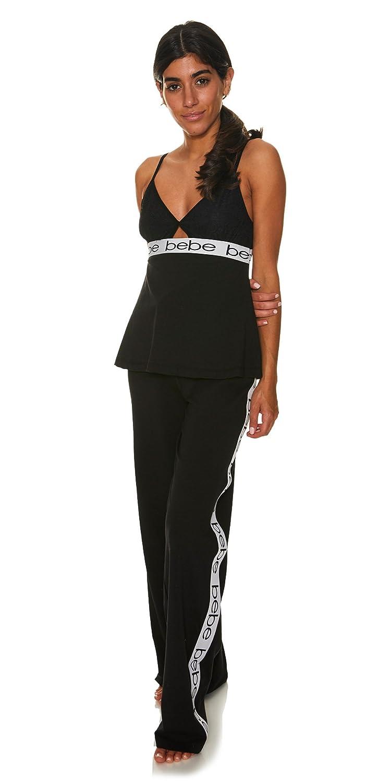 bebe Womens Lace Trim Cami Tank Top and Pajama Pant Sleep Set at Amazon  Women s Clothing store  79ba9cf34