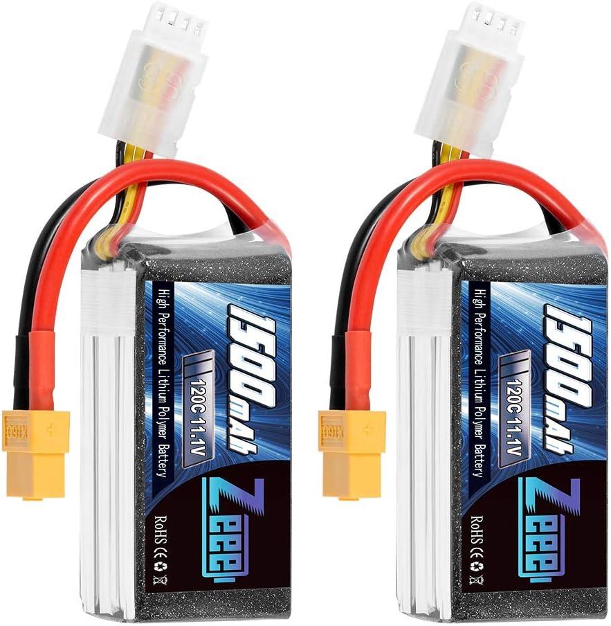Baterias lipo 11.1V 120C 1500mAh 3S RC 68 x 34.5 x 27.5mm